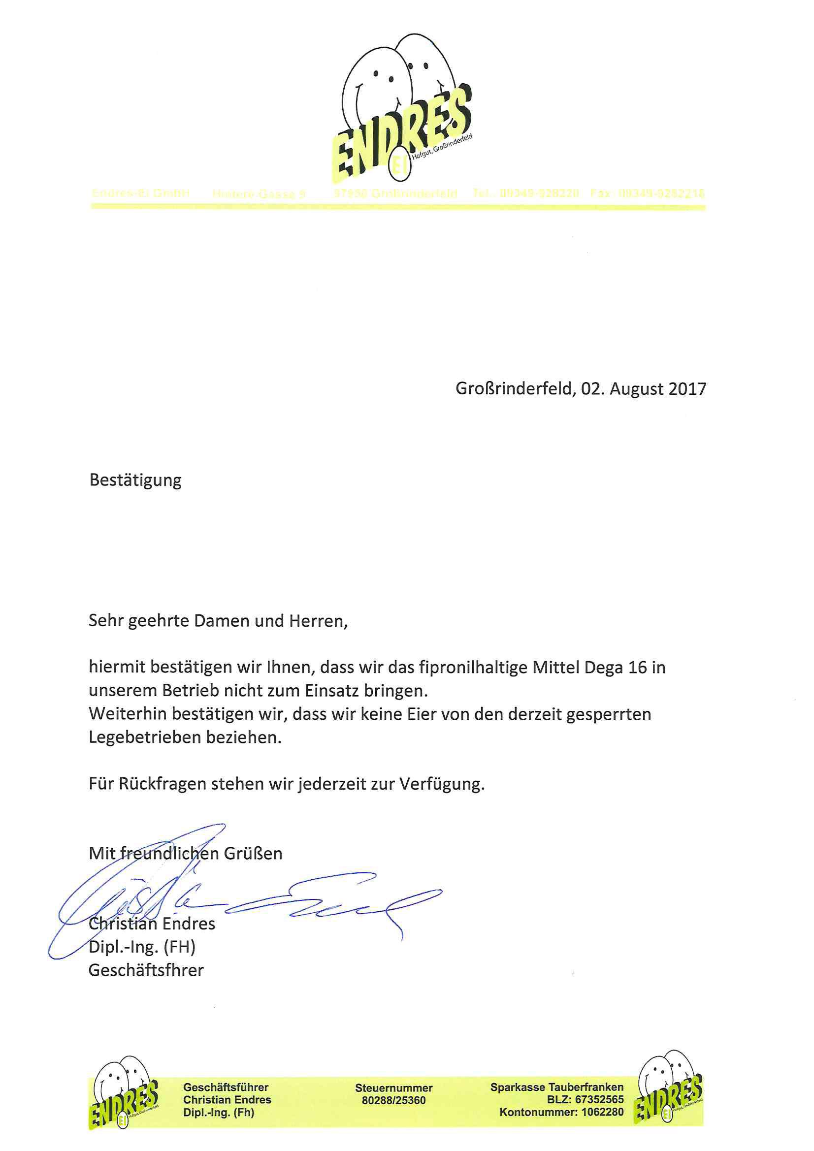 Bestatigung-Fipronil
